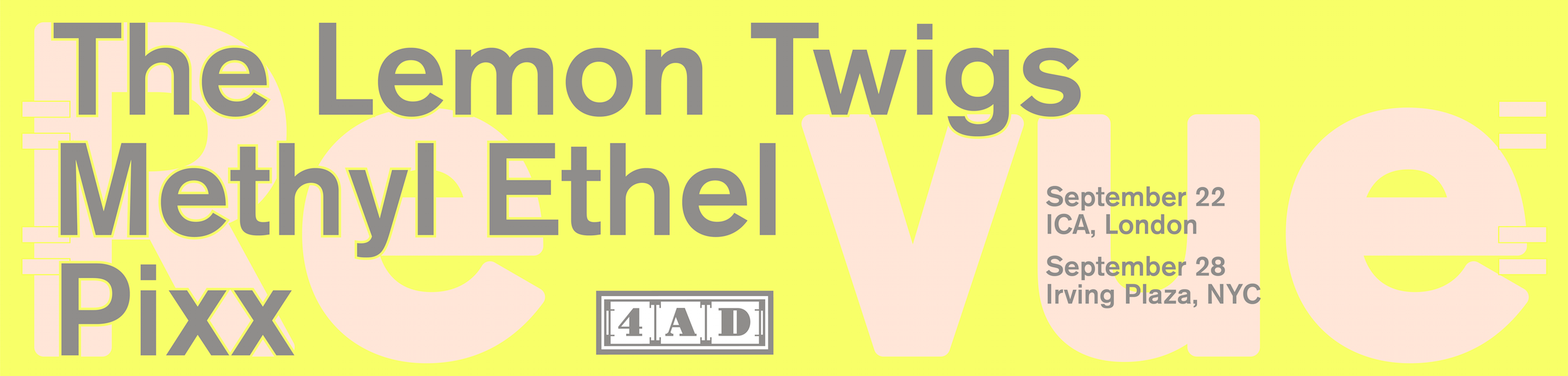 Various - 4AD Revue Shows, Featuring Methyl Ethel, The Lemon Twigs, Pixx