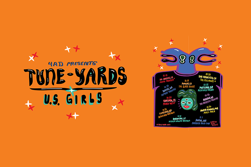Tune-Yards - 4AD Presents Tune-Yards & U.S. Girls Tour