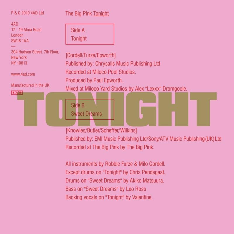 The Big Pink - Tonight